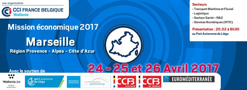 Mission économique - Marseille - 24-25 et 26 avril 2017