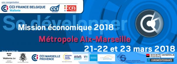 Se développer - Mission économique - Aix - Marseille Métropole - 22, 23 et 24 mars 2018